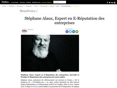Illustration Stéphane Alaux interviewé par Forbes